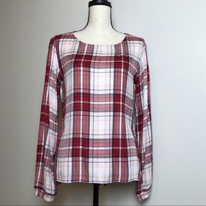 BENETTON Plaid Blouse in Small